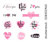 i love you message and heart... | Shutterstock .eps vector #528352963
