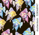 seamless pattern with fish... | Shutterstock .eps vector #528368947