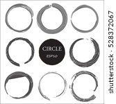set of hand drawn circles ... | Shutterstock .eps vector #528372067