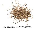 hemp seeds isolated on white... | Shutterstock . vector #528381733