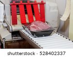 packaging machine to cut meat...   Shutterstock . vector #528402337