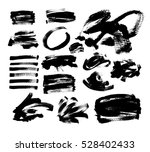 set of 20 black ink hand... | Shutterstock . vector #528402433