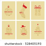 christmas icons holiday... | Shutterstock .eps vector #528405193