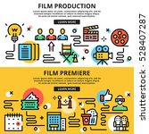 film production  film premiere  ... | Shutterstock .eps vector #528407287