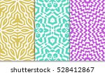 decorative floral illusion... | Shutterstock .eps vector #528412867