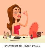 beautiful woman character doing ... | Shutterstock .eps vector #528419113