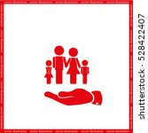 family and hand icon vector... | Shutterstock .eps vector #528422407
