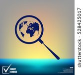 analyzing the world. magnifier... | Shutterstock .eps vector #528425017