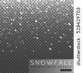 christmas shining falling snow... | Shutterstock .eps vector #528429703