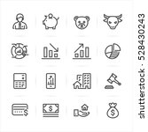 business and finance icons with ... | Shutterstock .eps vector #528430243