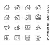 real estate icons with white... | Shutterstock .eps vector #528432733