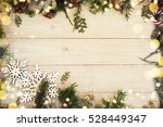 christmas background on the... | Shutterstock . vector #528449347