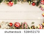 christmas background on the... | Shutterstock . vector #528452173