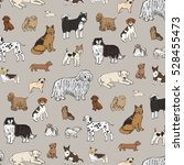 dog animal pattern | Shutterstock .eps vector #528455473