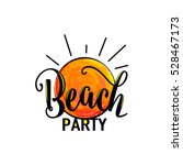 vector illustration of beach... | Shutterstock .eps vector #528467173