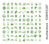 100 ecology   nature green... | Shutterstock .eps vector #528492187