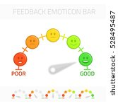 feedback emoticon gauge. rank... | Shutterstock .eps vector #528495487