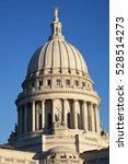 Small photo of Dome of State Capitol of Wisconsin in Madison.