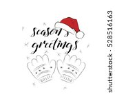 seasons greetings card with... | Shutterstock .eps vector #528516163