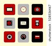 vector flat icons set   gadgets ... | Shutterstock .eps vector #528536467