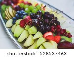 beautifully decorated catering... | Shutterstock . vector #528537463
