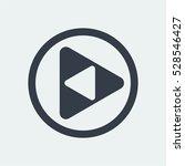play button icon  web vector | Shutterstock .eps vector #528546427