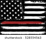 tattered flag red line fire | Shutterstock . vector #528554563