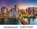 Miami Florida Usa Skyline Biscayne - Fine Art prints