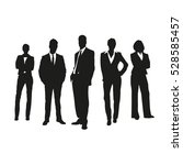 business people on silhouettes | Shutterstock .eps vector #528585457