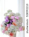 beautiful spring wedding... | Shutterstock . vector #528592213