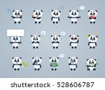 big set of baby panda... | Shutterstock .eps vector #528606787