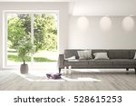 white room with sofa and green... | Shutterstock . vector #528615253