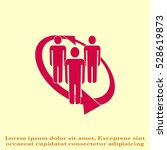 group of people icon  friends... | Shutterstock .eps vector #528619873