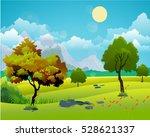 landscape  nature vector... | Shutterstock .eps vector #528621337