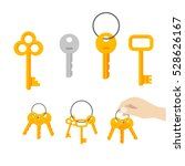 keys vector set isolated on... | Shutterstock .eps vector #528626167