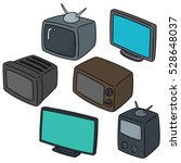 vector set of television | Shutterstock .eps vector #528648037