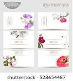 design of business cards with... | Shutterstock .eps vector #528654487