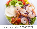 Fresh Shrimp Salad Top View ...