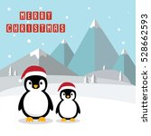 penguin cartoon character. cute ... | Shutterstock .eps vector #528662593
