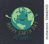 earth day illustration. earth... | Shutterstock . vector #528682423