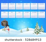 christmas landscape  winter... | Shutterstock .eps vector #528684913
