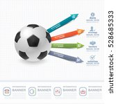 football ball infographics... | Shutterstock .eps vector #528685333