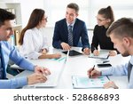 business people having a... | Shutterstock . vector #528686893