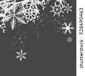 winter background  snowflakes   ... | Shutterstock . vector #528690463