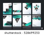 business vector set. brochure... | Shutterstock .eps vector #528699253
