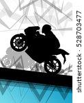 Sport Motorbike Rider And...