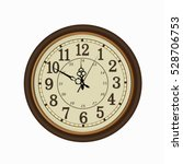 old vintage clock face isolated ... | Shutterstock .eps vector #528706753