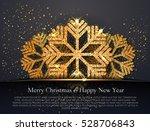 elegant christmas greeting card ... | Shutterstock .eps vector #528706843