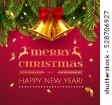merry christmas and happy new... | Shutterstock .eps vector #528706927
