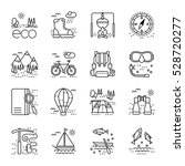 eco tourism icons set on white... | Shutterstock .eps vector #528720277